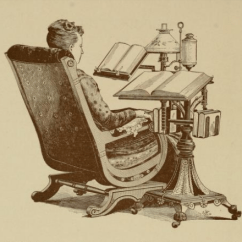 Chair Side Book Stand Leather Baby Shower Rental 1890 Machine Beyond Survival In A School Library