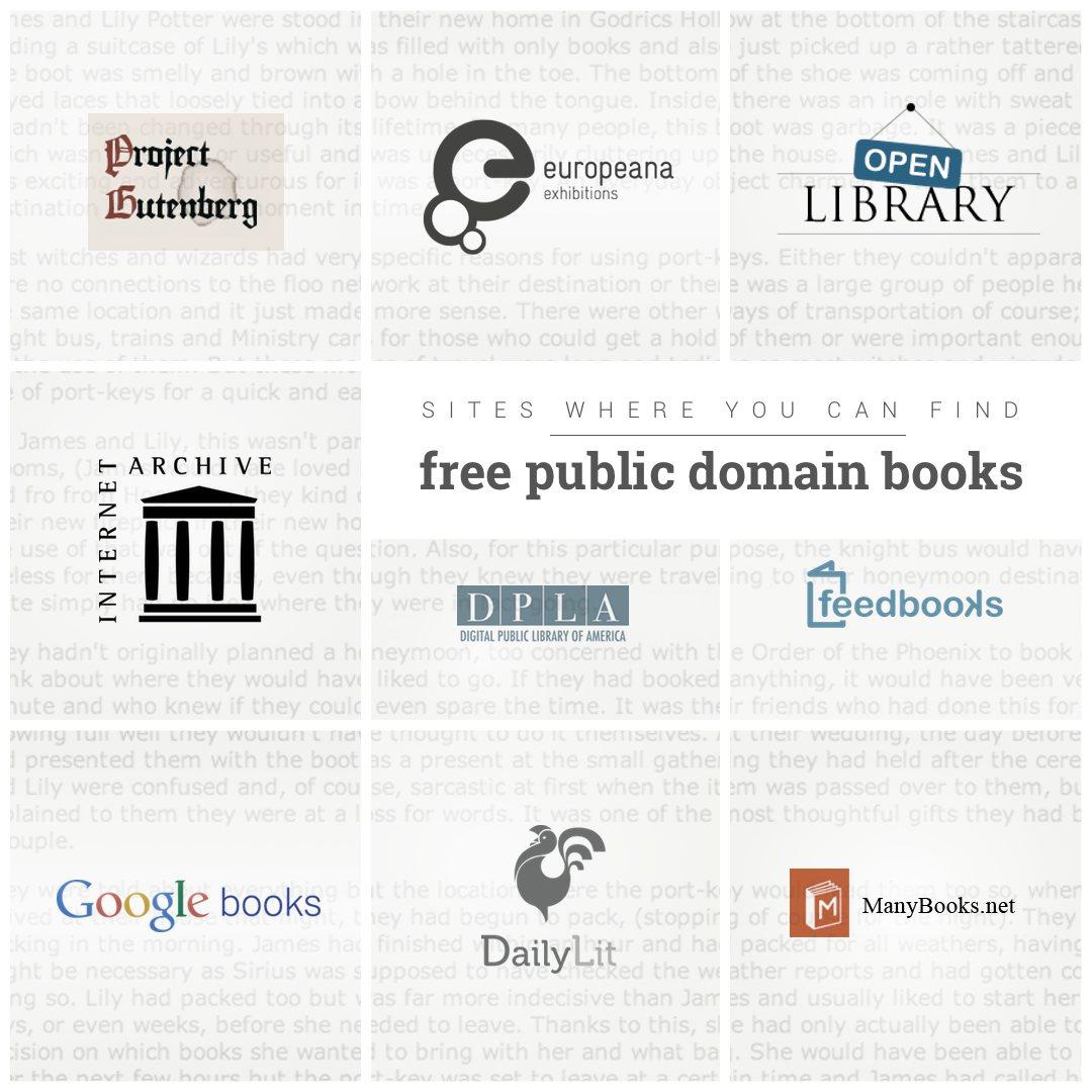 25 sources of free public domain books
