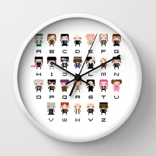 Delightful Harry Potter pixel art alphabet pictures