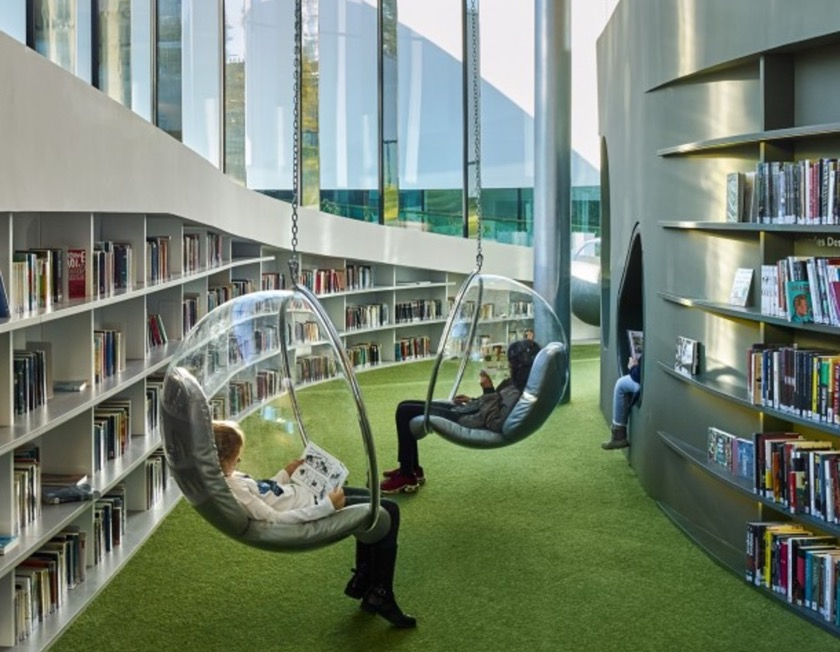 A futuristic library in France is like the citys living