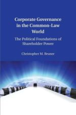 Corporate Governance in the Common-Law World The Political Foundations of Shareholder Power