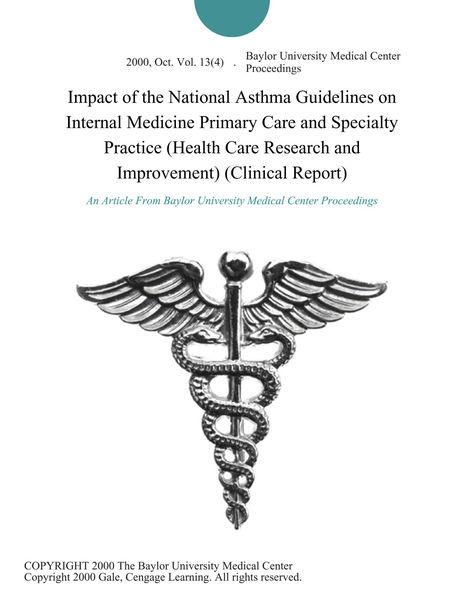 PDF Download Impact of the National Asthma Guidelines on
