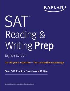 Kaplan: SAT Reading & Writing Prep, Eighth Edition 2020