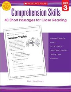 Comprehension Skills: 40 Short Passages for Close Reading | Grade 3