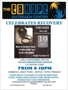 *Media Advisory* EB HOPE to Host Benefit Concert for Substance Abuse Recovery