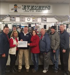 EB HOPE Receives Donation from Everett's Auto Parts