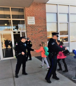 Photos: East Bridgewater Police Welcome Students Back to School from February Vacation