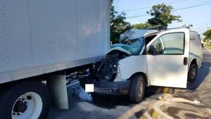 East Bridgewater Police and Fire Respond to Crash Between Van and Box Truck