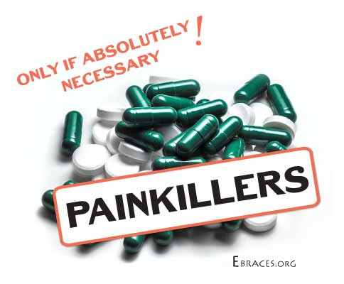 painkillers for braces