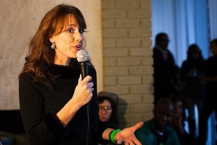 Nicole Hansen Speaking at The Green Girls Holiday Party by Nrav Photography