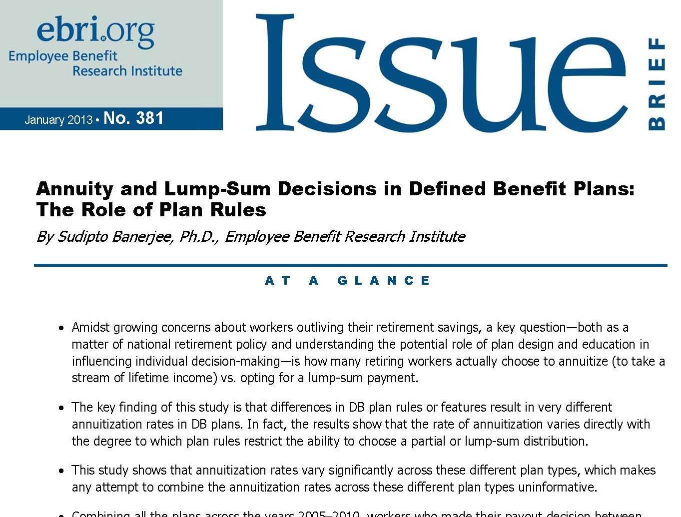 Annuityf Lump Sum Distribution Annuity