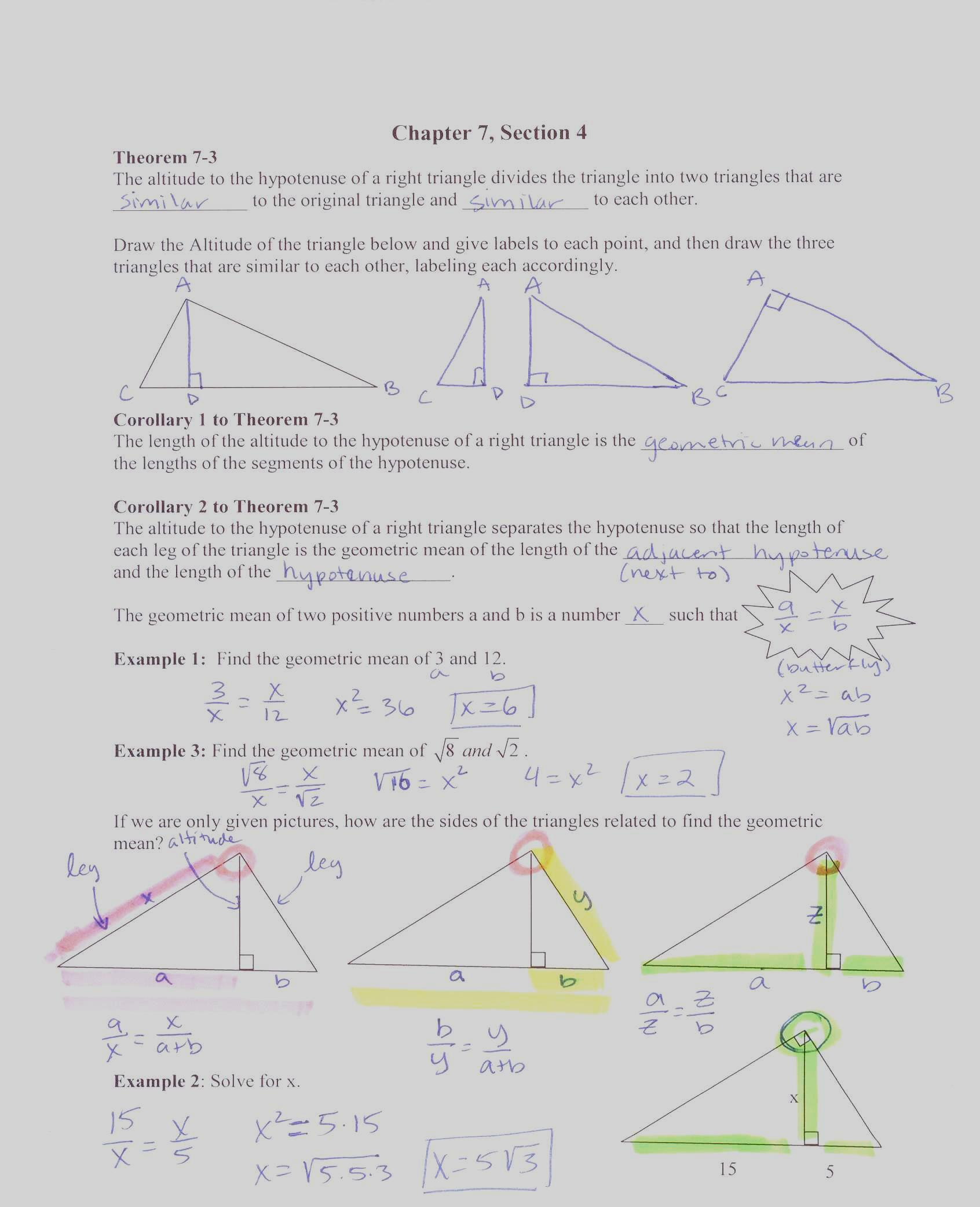 Glencoe Geometry Worksheet Answers Areas Of Quads
