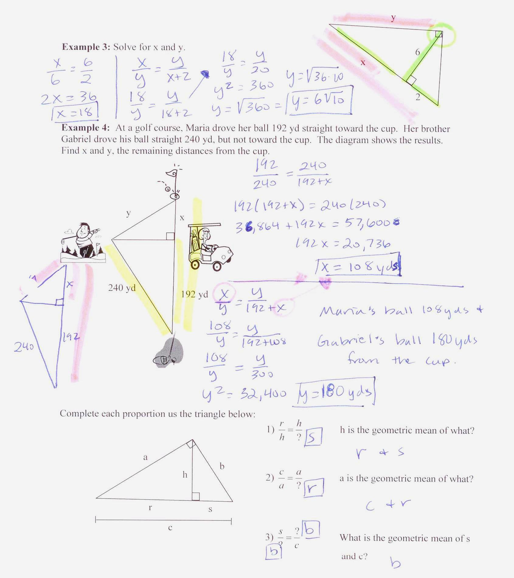 Lesson 3 Homework Practice Slope And Similar Triangles