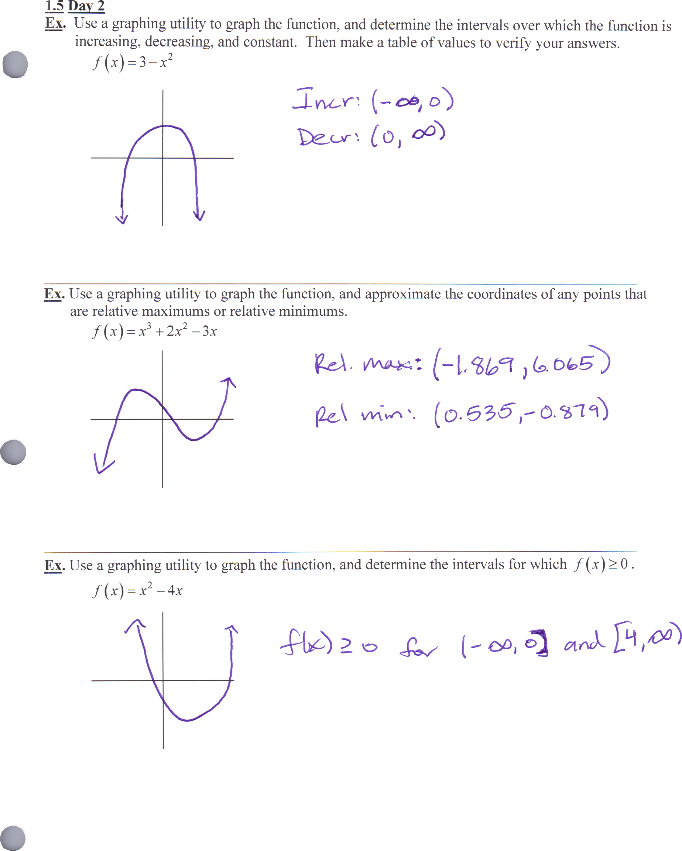 Precalculus Homework 4 5 Worksheet 2 Answers