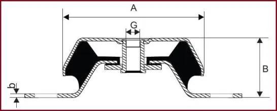 Metallic mounts are used in generators, diesel engines