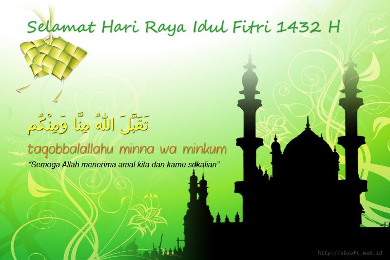 Koleksi Kartu Ucapan Selamat Idul Fitri Lebaran 1432 H Ebsoft