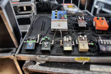 Primus guitarist Ler Lalonde's pedalboard with the EBS OctaBass.
