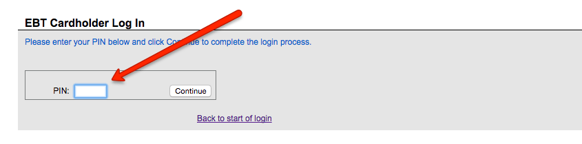 """log into EBT Edge account"""