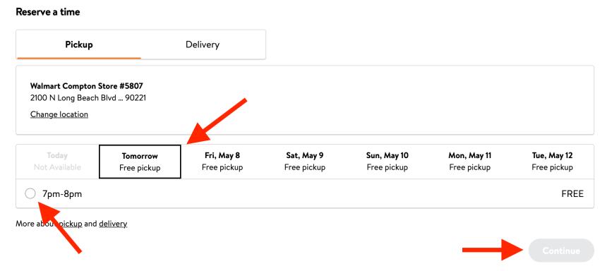 Pickup Walmart SNAP EBT Order