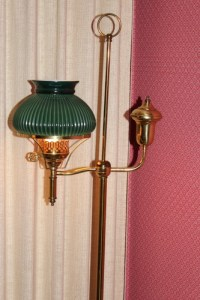 Colonial Style Floor Lamp with Glass Globe : EBTH