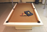 White Brunswick Pool Table | Modern Coffee Tables and ...
