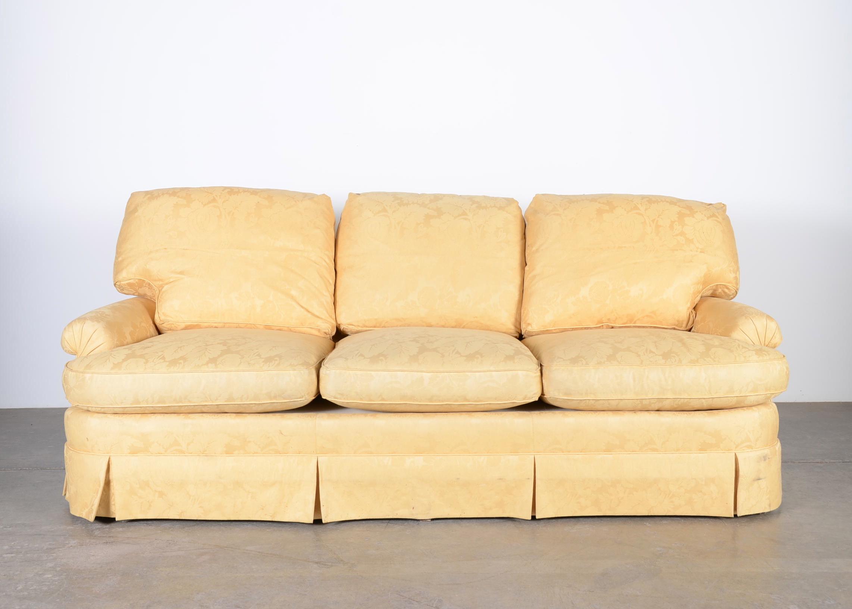 baker furniture max sofa zanotta 1330 william co 3 cushion ebth