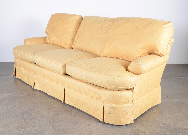 baker furniture max sofa american beds co 3 cushion ebth