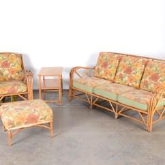 Heywood Wakefield Wicker Chairs Co Op Recliner Mid Century Rattan Patio Furniture Ebth