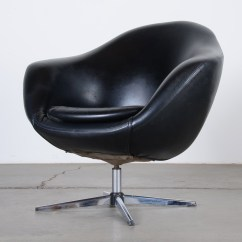 Black Oversized Chair Target Folding Chairs Overman Lounge Pod In Leather Ebth