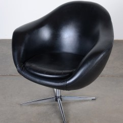 Black Oversized Chair How To Make Covers Overman Lounge Pod In Leather Ebth