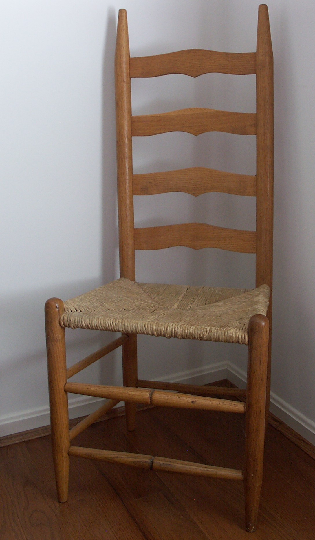 white ladder back chairs rush seats sleeper sofa chair and a half with seat ebth