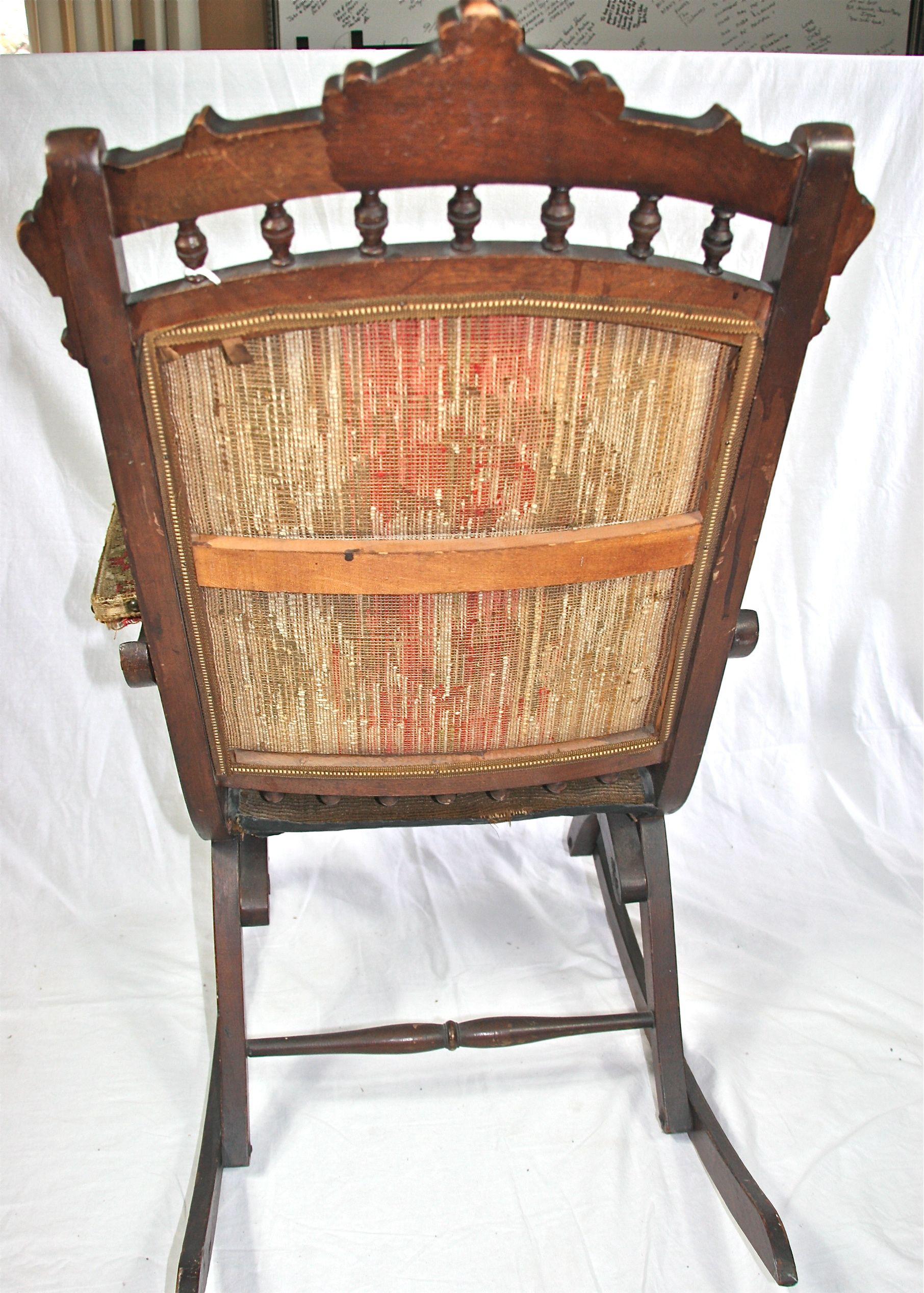 antique victorian folding rocking chair cheap cover hire perth eastlake ebth