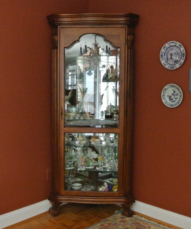 Large 5 Glass Shelf Curio Cabinet  EBTH