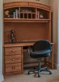 chair connected to desk high belt replacement hutch with cork board rollout keyboard ebth