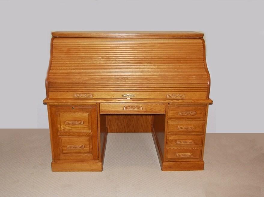 """Solid Oak Roll Top Computer Desk """"winners"""
