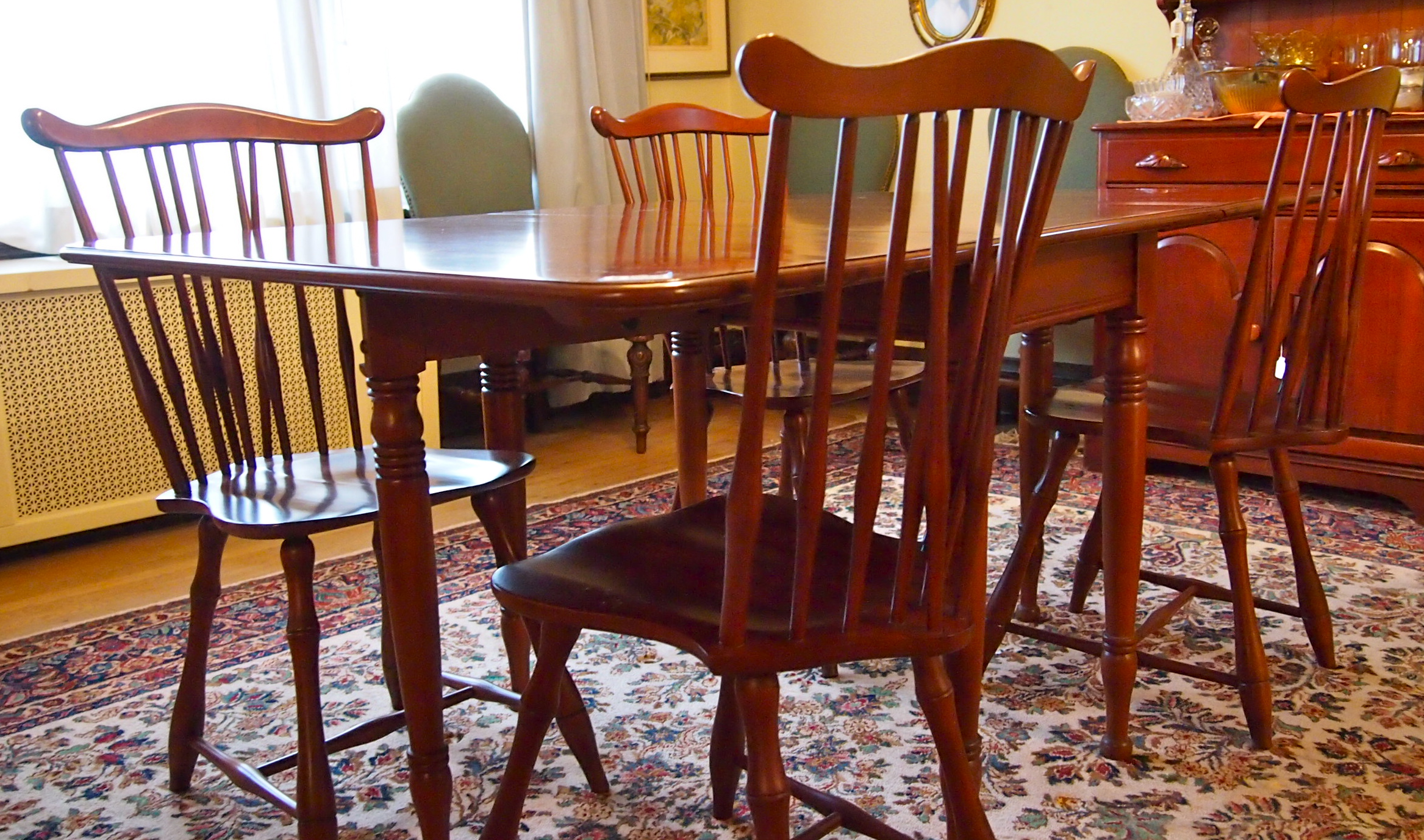cherry wood table and chairs unfinished wooden dining ebth