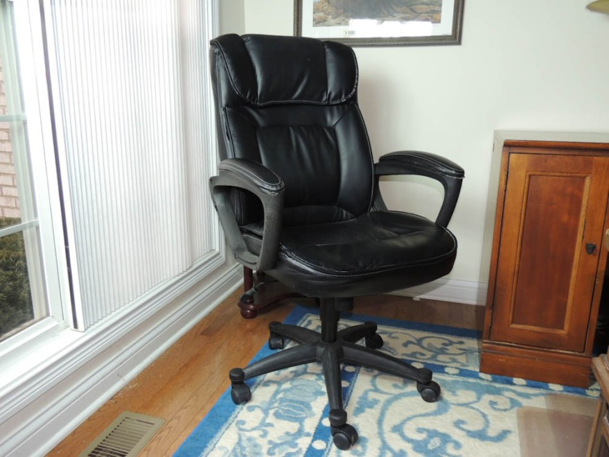 Broyhill Leather Office Chair  EBTH