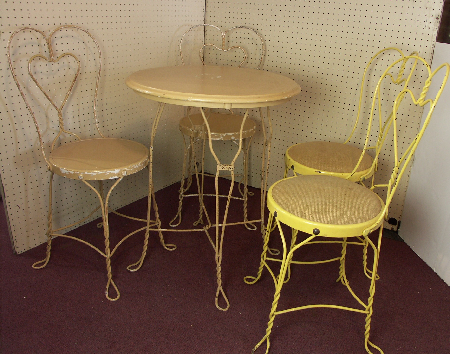 ice cream parlor table and chairs lycra chair covers australia four ebth