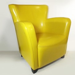 Art Deco Style Club Chairs Chair Covers Chicago Canary Yellow Ebth