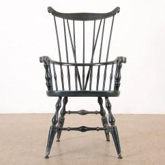 Comb Back Windsor Chair White Rocking For Nursery Vintage Braced Ebth