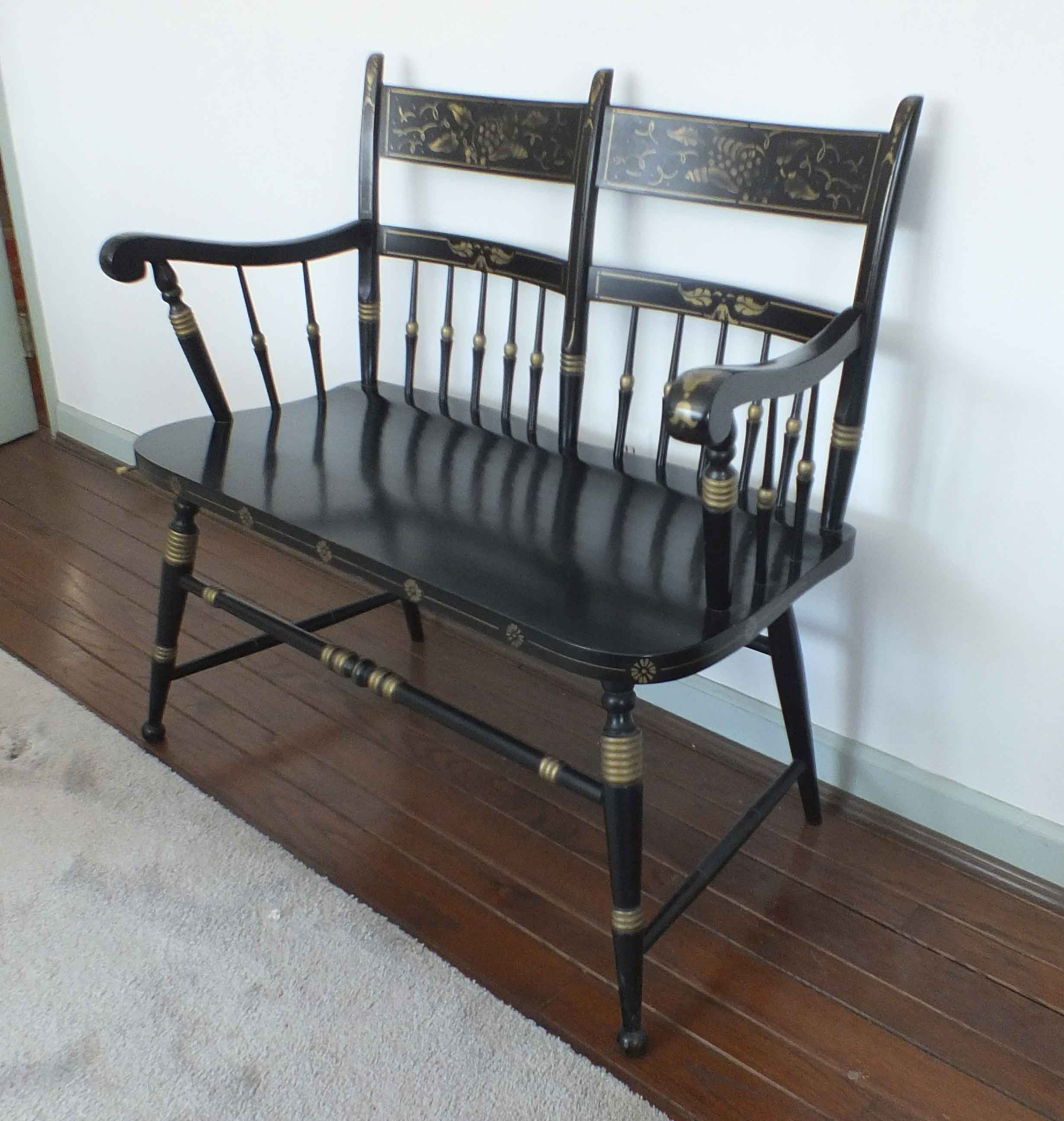 tell city chairs pattern 4548 wooden low babies chair two seater hitchcock style bench ebth