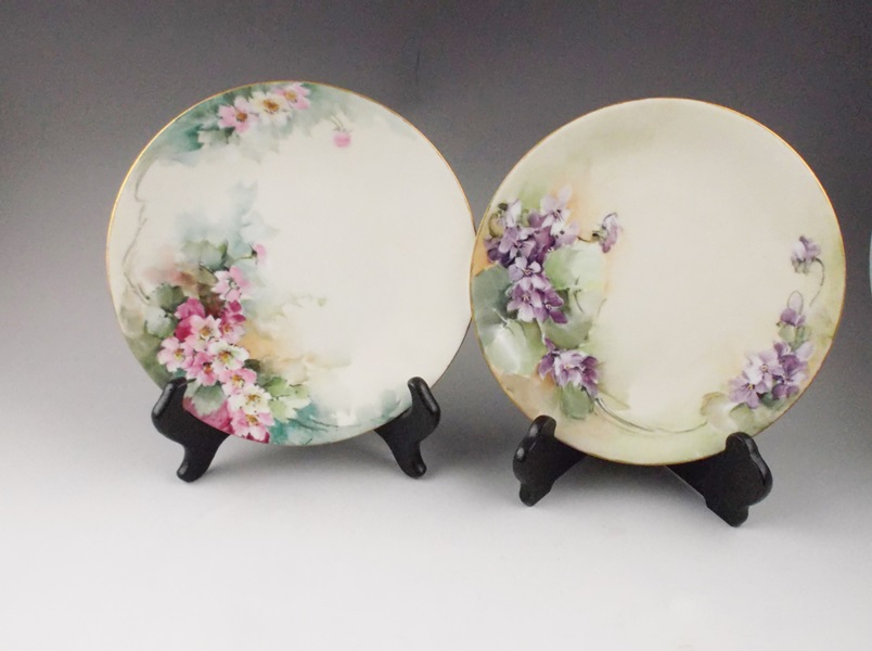 Set Of Two Hand-painted .l France China Plates Ebth