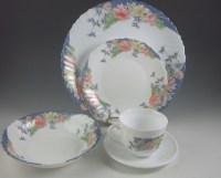 70 Piece Lot of Vintage Arcopal France Glass Dinnerware : EBTH