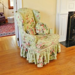 Country Style Wingback Chairs Club Leather Swivel Lovely English Chair Ebth