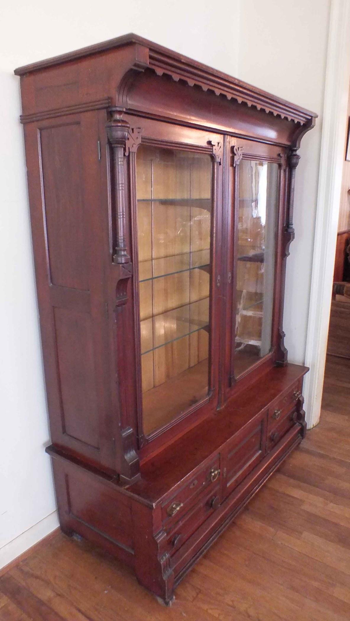 Antique Victorian Eastlake Curio Cabinet Ebth