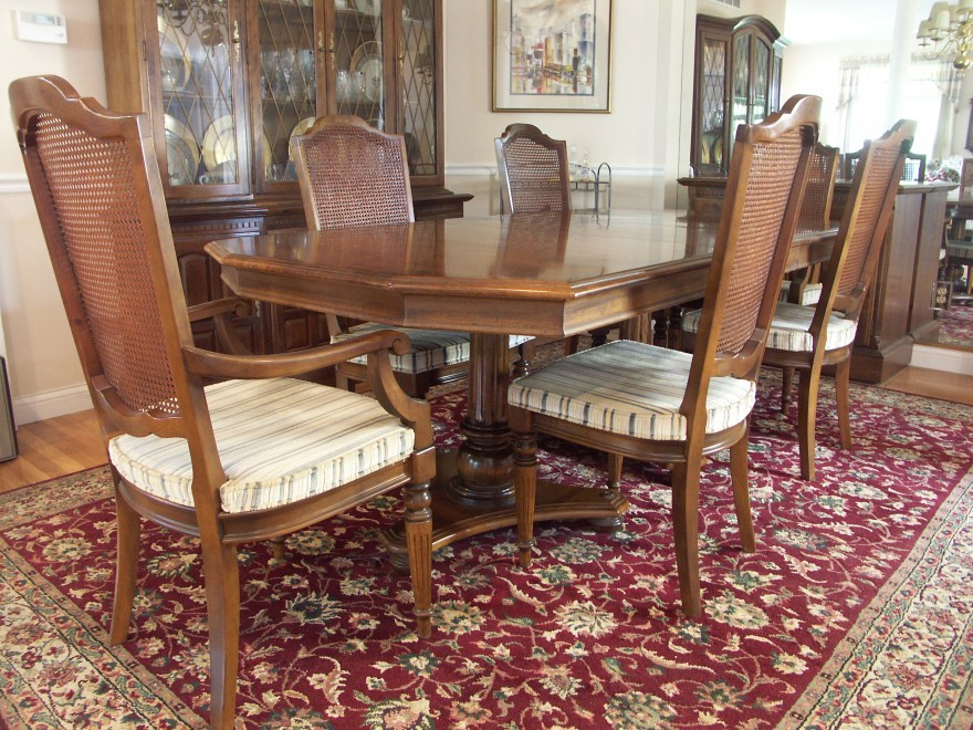Ethan Allen Dining Table and Six Chairs  EBTH