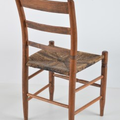 Early American Chair Styles Bernhardt Brown Leather Club Style Ladder Back Ebth