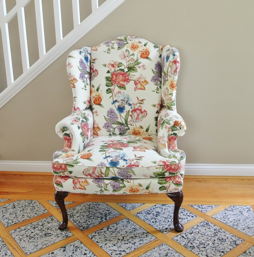country style wingback chairs skirted chair english ebth