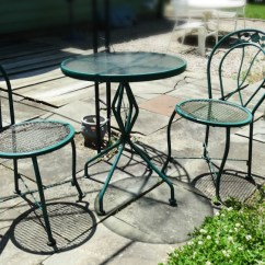 Green Metal Bistro Chairs Wedding Chair Cover Hire Harrogate Set Ebth