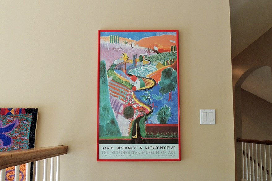 "David Hockney ""nichols Canyon"" Met Museum Poster 1988"